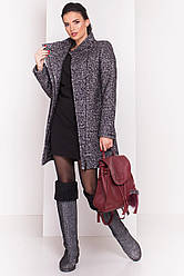 Пальто женское зимнее, укороченное, хомут в комплекте Эльпассо 3681 | S-L.р.