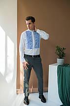 Мужская  льнаная вышиванка, фото 2