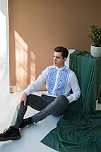 Мужская  льнаная вышиванка, фото 3