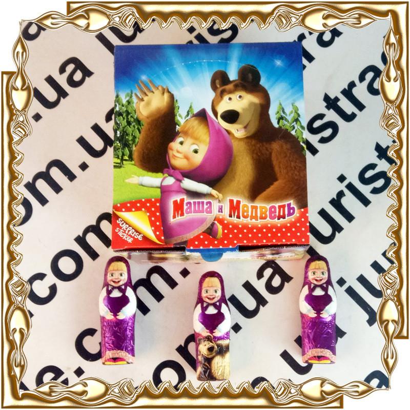 Шоколадная фигурка Маша и Медведь с сюрпризом 38 гр. 24 шт./уп.