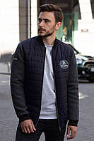 Мужская куртка осенняя Sun's House Бомбер рост: 170-180 размер: L Синий (арт. C-025)
