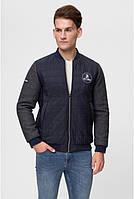 Мужская куртка осенняя Sun's House Бомбер рост: 180-190 размер: XL Синий (арт. C-026)
