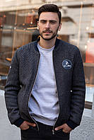 Мужская куртка осенняя Sun's House Бомбер рост: 170-180 размер: 2XL Серый (арт. T-024)