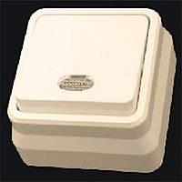 Misya вимикач 1-ий з підсвічуванням зовнішній кремовий