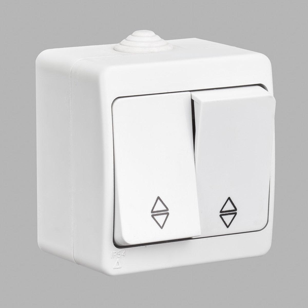 Nemli вимикач прохідний 2-ой вологозахищений білий