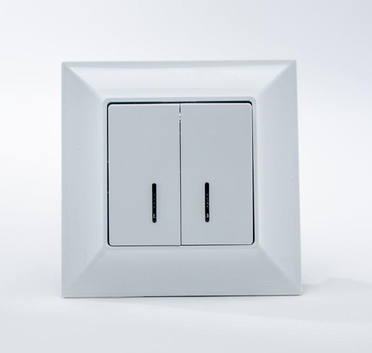 Neoline вимикач 2-й з підсвіткою білий