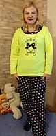 Пижама женская  флисовая с длинным рукавом 42-48 ,доставка по Украине