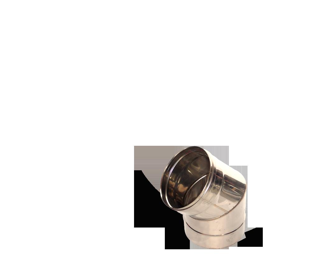 Версия-Люкс (Кривой-Рог) Колено 45, нержавейка, толщиной 0,5 мм, диаметр 160мм