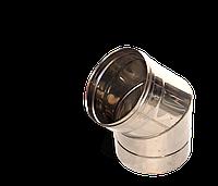 Версия-Люкс (Кривой-Рог) Колено 45, нержавейка, толщиной 0,5 мм, диаметр 200мм