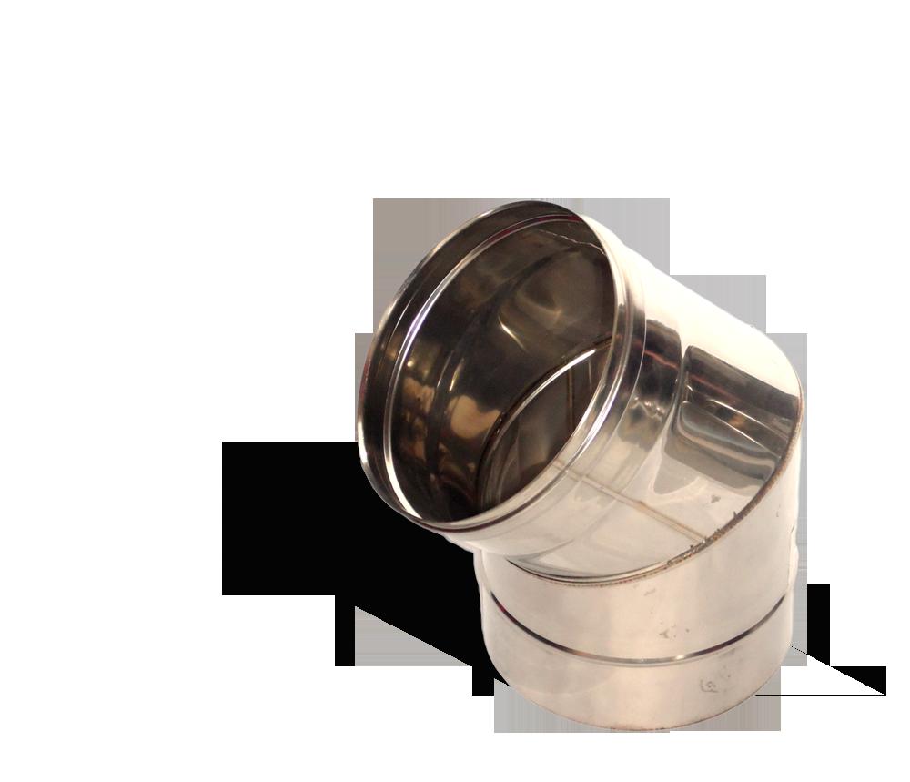 Версия-Люкс (Кривой-Рог) Колено 45, нержавейка, толщиной 0,5 мм, диаметр 250мм