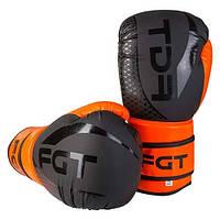 Боксерские перчатки FGT, Flex, 8oz, оранж/черный F2588/8