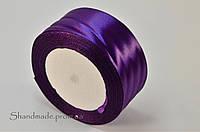 Атласная лента фиолетовая 4 см (рулон)