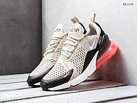 Мужские кроссовки в стиле Nike Air Max 270, текстиль, пена, серые с красным 41 (26 см)