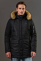 Мужская зимняя тёплая куртка Sun's House Alaska рост: Medium размер: L Черный (арт. B-016)