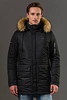 Мужская зимняя тёплая куртка Sun's House Alaska рост: Short размер: L Черный (арт. B-016)