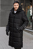 Мужская зимняя тёплая куртка Sun's House Energy рост: 180-190 размер: M Черный (арт. B-088)
