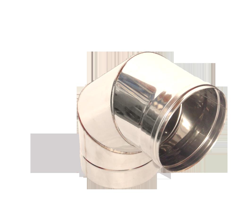 Версия-Люкс (Кривой-Рог) Колено 90, нержавейка, толщиной 0,8 мм, диаметр 230мм
