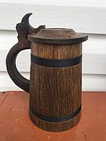 Бокал деревянный с крышкой