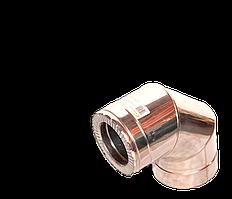 Версия-Люкс (Кривой-Рог) Колено 90, утепленное нержавейка, толщина 1 мм, диаметр 125мм