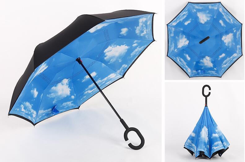 Зонт наоборот с небом AL170011