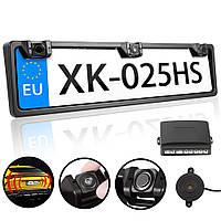Парктроник заднего хода в рамке номера 2 Sensor MD   Cистема парковки для автомобиля (Black)