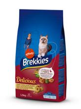 Корм Brekkies (Бреккис) Cat Delice Meat для взрослых котов с курицей, 1,5 кг