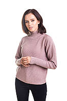 Красивый женский свитер с горловиной стойкой, фото 1