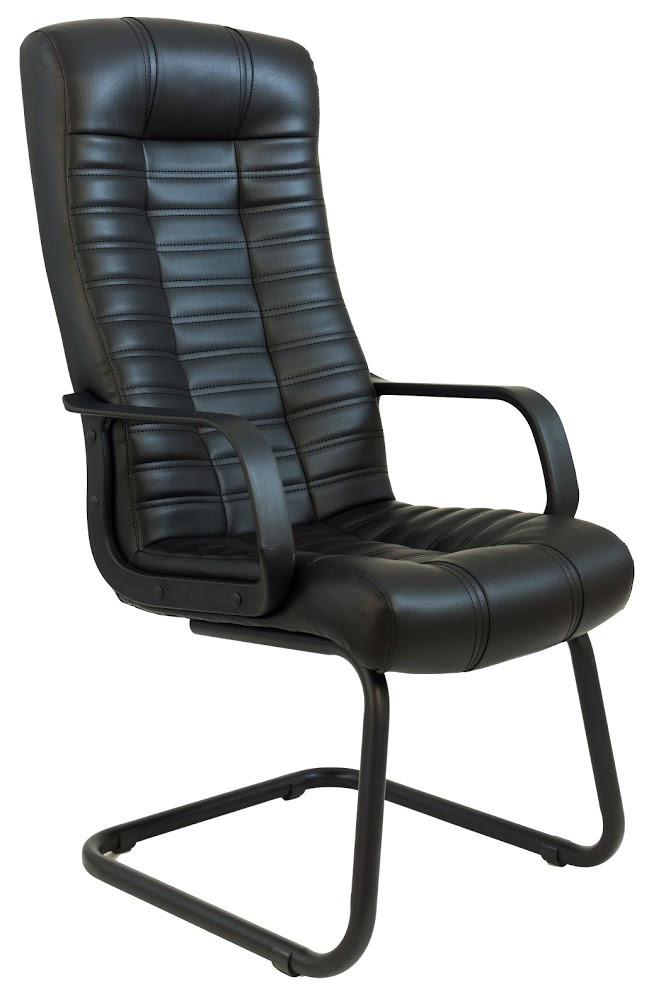 Кресло Атлант CF на полозьях 1кат черное