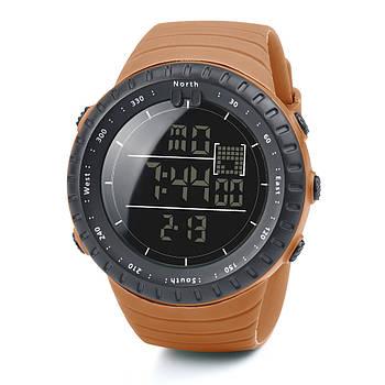 Спортивні наручні чоловічі годинники DISU коричневі