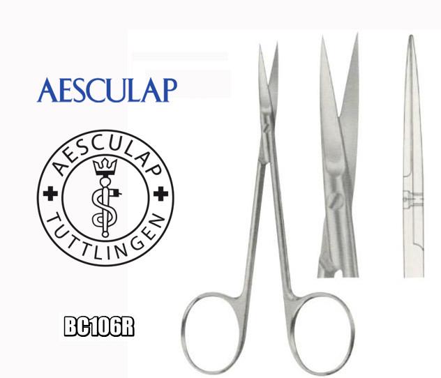 Ножницы хирургические операционные прямые остроконечные Aesculap BC106R