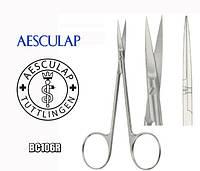 Ножиці хірургічні операційні прямі загострені Aesculap BC106R 115*30мм