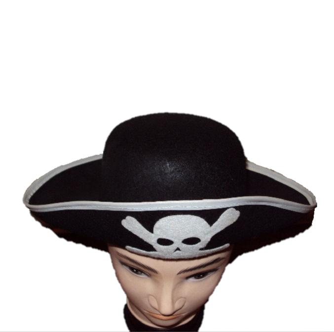 Фетровая карнавальная шляпа пиратская, (460168)