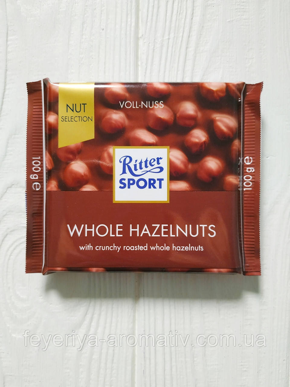 Шоколад Ritter Sport 100гр. (Германия) Whole Hazelnuts (молочны с цельным фундуком)