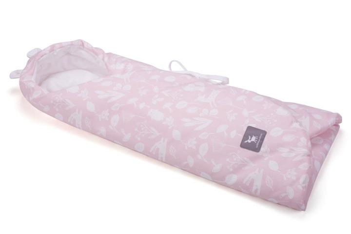 Конверт в коляску и автокресло Cottonmoose ODWF 439/129/51 розовый (лес) с белым