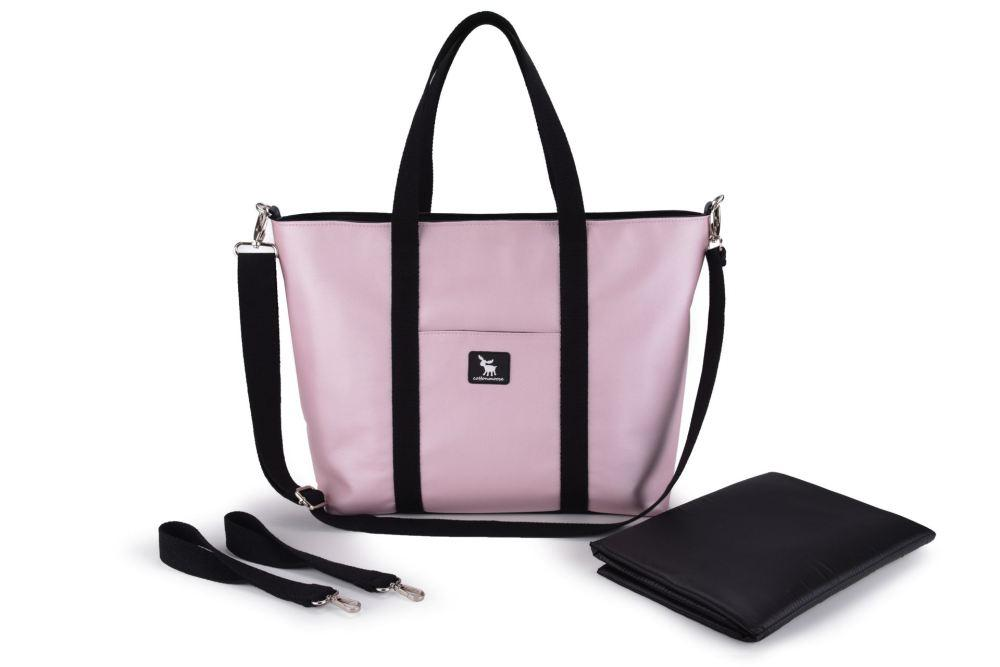Сумка для коляски Cottonmoose Shopper 750/146 pearl pink leather (рожева пудра еко-шкіра)