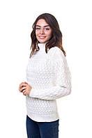 Молочный женский свитер с аранами, фото 1