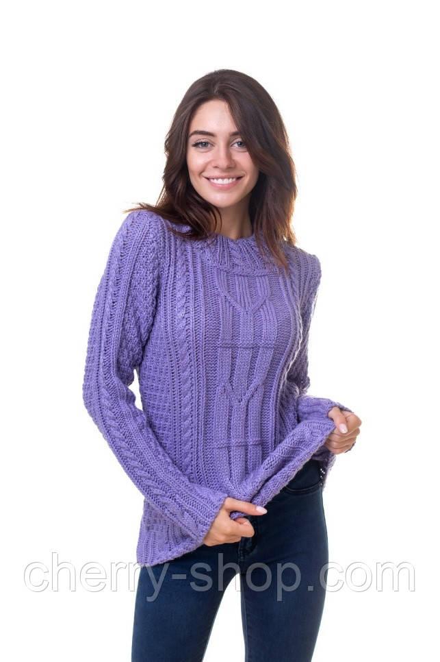Объемный свитер с косами в размере 44,46,48