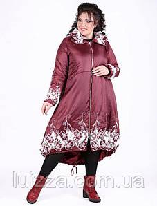 Турецкое зимнее пальто Pompandur 54-56 рр бордо
