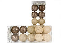 Гирлянда тайские шарики Liross Cotton Balls 10led, диам 6см, длина 235см на батарейках АА