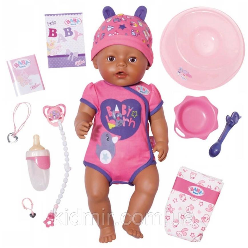Беби Борн Кукла Очаровательная малышка мулатка Нежные объятия 43 см Baby Born Zapf 824382
