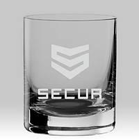 Именной стакан для виски с гравировкой логотипа компании