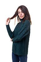 Бутылочный свободный свитер в размере 44,46,48