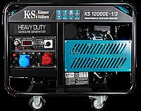 Бензиновий двоциліндровий генератор KS 12000E-1/3, фото 1