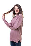 Красивый нежный свитер женский с горловиной стойкой, фото 1