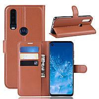 Чехол Luxury для Motorola One Action (XT2013-2) книжка коричневый