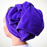 Полотенце для нетравматичной сушки волос из микрофибры (белый), фото 2