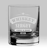 "Именной стакан для виски ""Whiskey"""