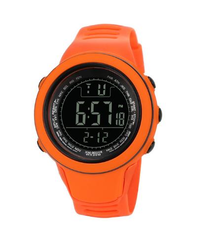Спортивные наручные мужские часы DISU оранжевые