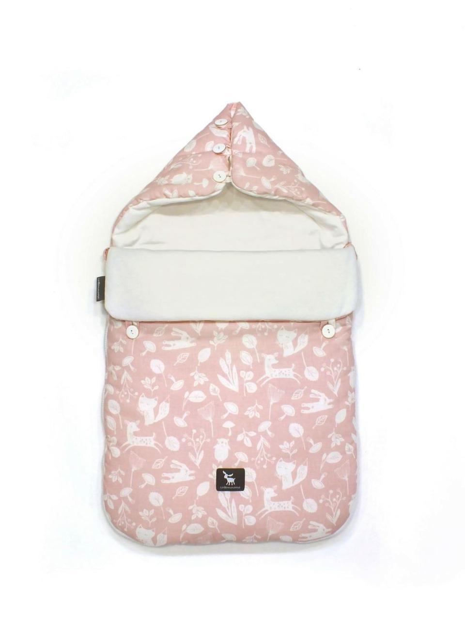 Универсальный конверт в коляску и автокресло Cottonmoose Pooh 330/129/51 forest pink cotton white cotton