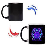 Сказочная чашка хамелеон Знак зодиака Рак 330 мл, фото 1